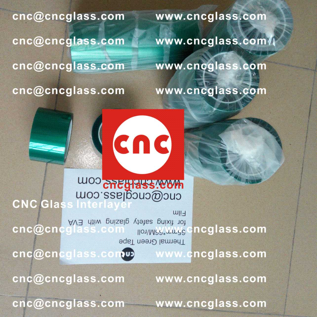 001, Thermal Green Tape for safety glazing, eva glass laminating