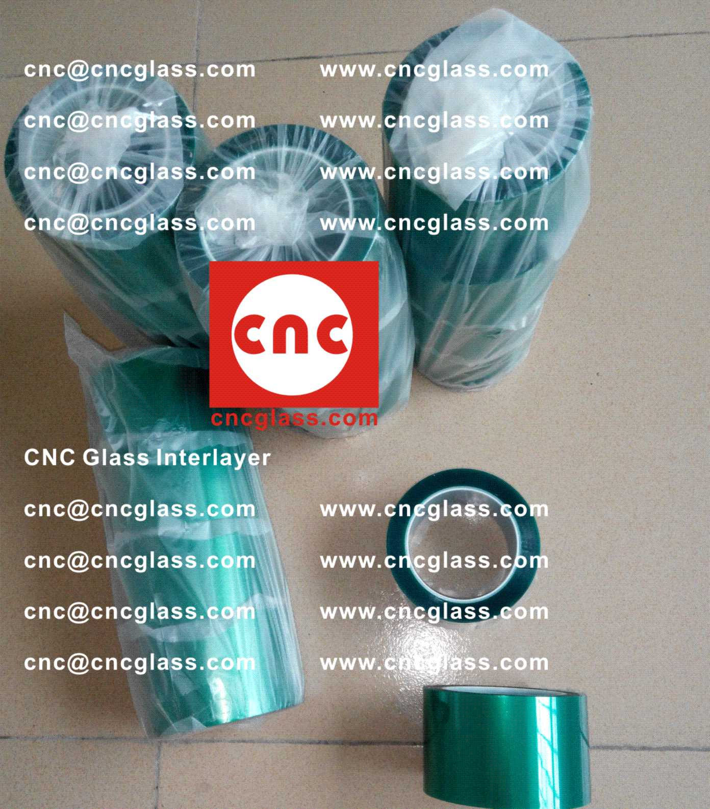 003 Thermal Green Tape for safety glazing, eva glass laminating