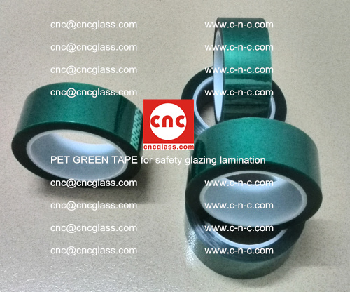 PET GREEN TAPE for safety glazing lamination (1)