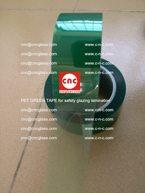PET GREEN TAPE for safety glazing lamination (15)