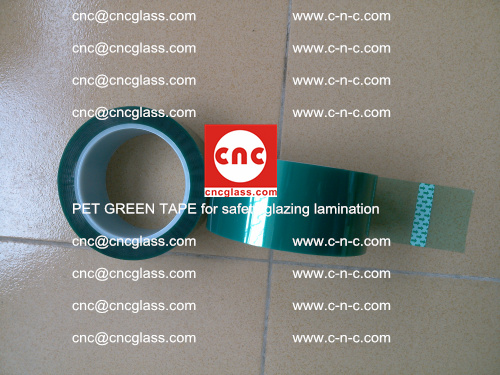 PET GREEN TAPE for safety glazing lamination (30)