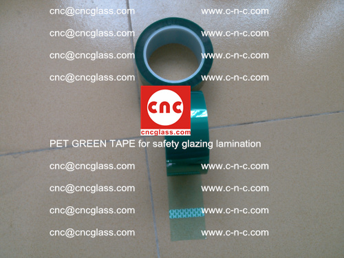 PET GREEN TAPE for safety glazing lamination (40)