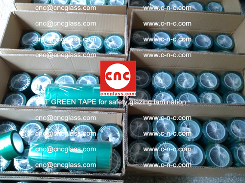 PET GREEN TAPE for safety glazing lamination (46)