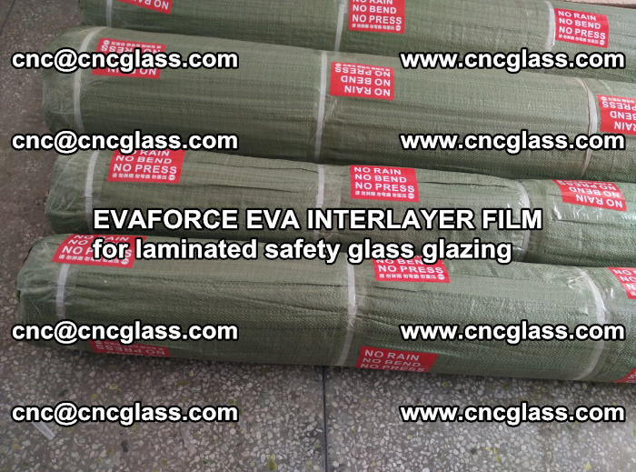 EVAFORCE EVA INTERLAYER FILM for laminated safety glass glazing (50)