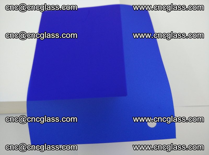 Eva glass laminating interlayer foil film Transparent clear color (blue clear) (1)