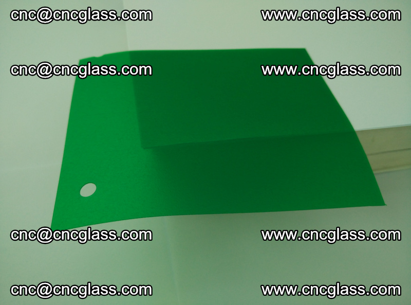 Eva glass laminating interlayer foil film Transparent clear color (green) (1)