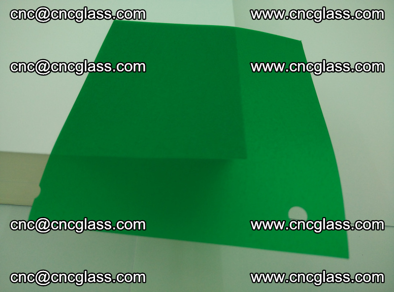 Eva glass laminating interlayer foil film Transparent clear color (green) (18)