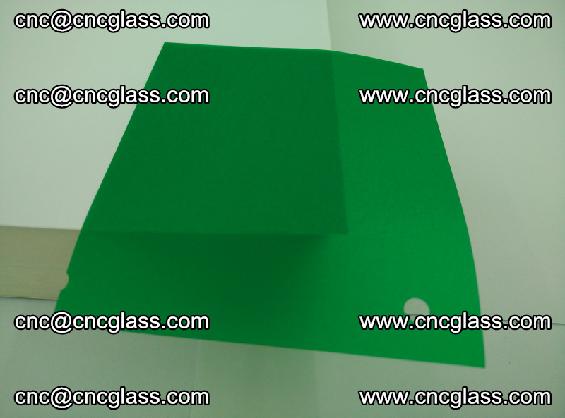 Eva glass laminating interlayer foil film Transparent clear color (green) (19)