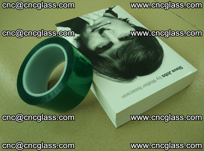 PET green tape, high temperature reistance, for safety glazing (1)