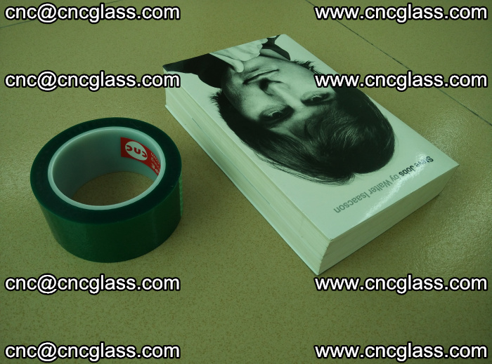 PET green tape, high temperature reistance, for safety glazing (2)