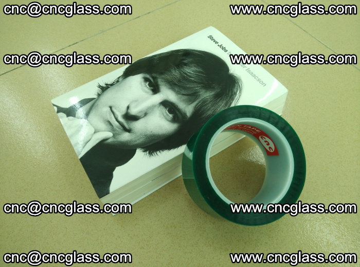 PET green tape, high temperature reistance, for safety glazing (20)