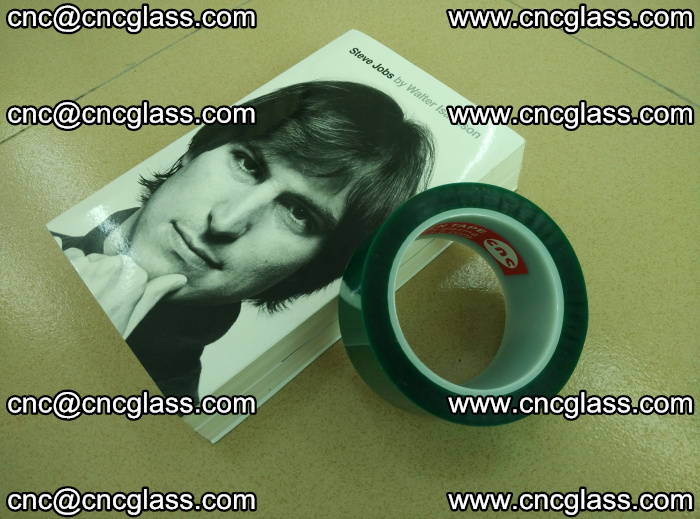 PET green tape, high temperature reistance, for safety glazing (23)