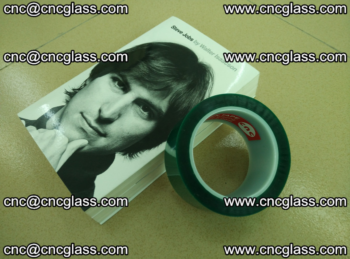 PET green tape, high temperature reistance, for safety glazing (24)
