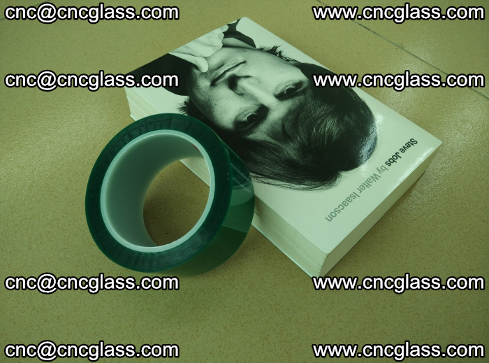 PET green tape, high temperature reistance, for safety glazing (27)
