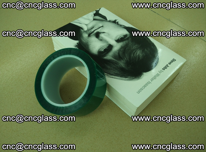 PET green tape, high temperature reistance, for safety glazing (28)