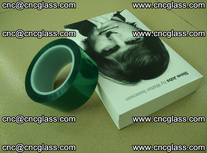 PET green tape, high temperature reistance, for safety glazing (29)
