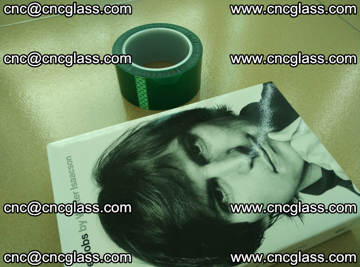 PET green tape, high temperature reistance, for safety glazing (9)