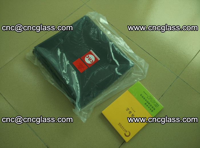 Transparent color grey eva glass interlayer film samples (34)