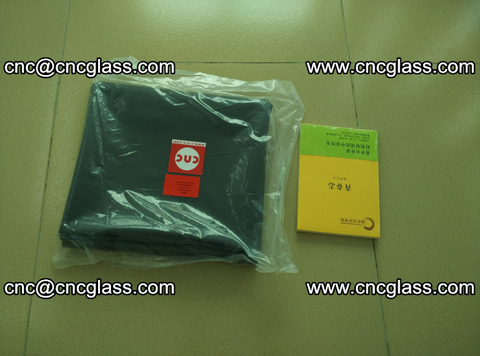 Transparent color grey eva glass interlayer film samples (35)