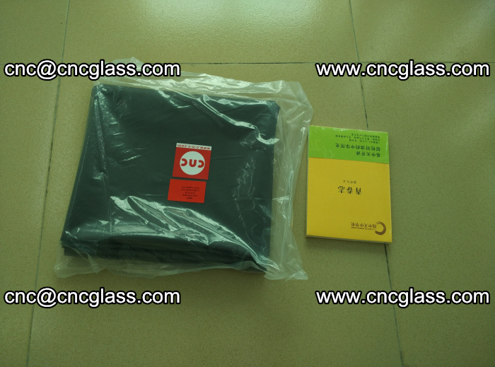 Transparent color grey eva glass interlayer film samples (37)