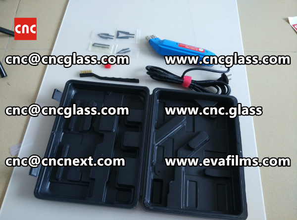 HEATING HOT KNIFE CUTTER trimming laminated glass edges (11)