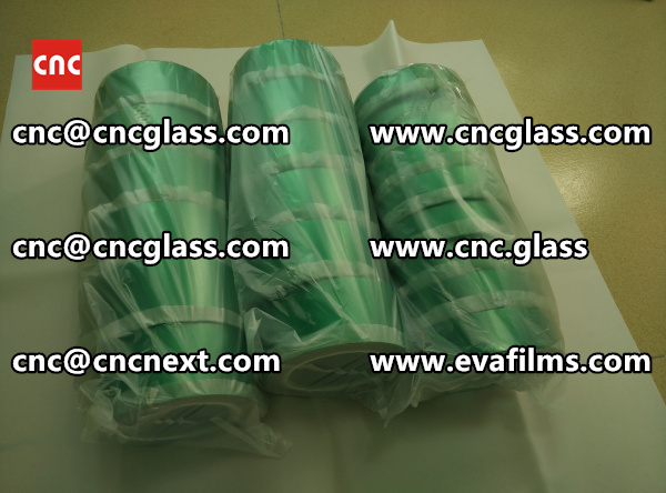 SILICONE PET high temp green tape for safety lamination (4)