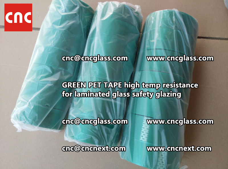 GREEN PET TAPE for laminated glass safety interlayers (1)