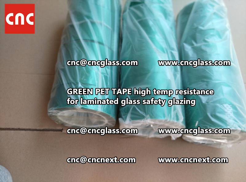 GREEN PET TAPE for laminated glass safety interlayers (2)