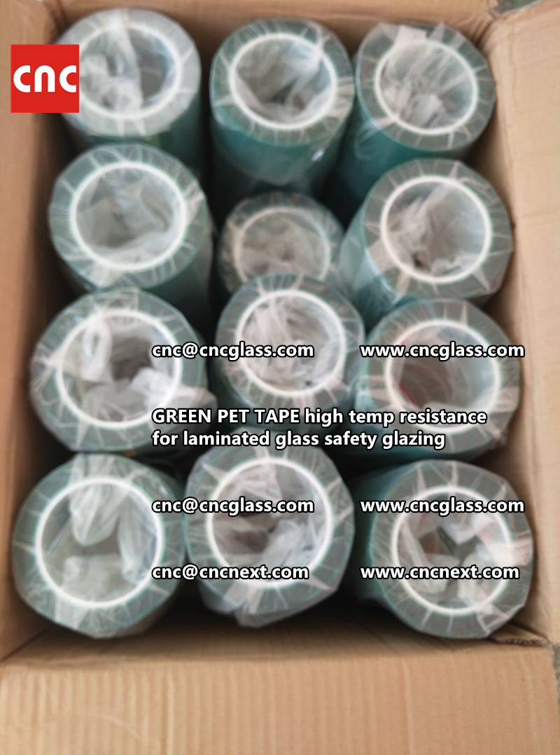 GREEN PET TAPE for laminated glass safety interlayers (3)