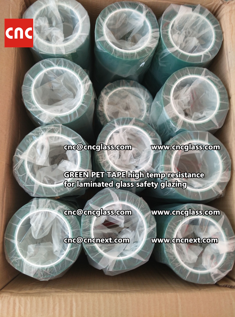 GREEN PET TAPE for laminated glass safety interlayers (4)