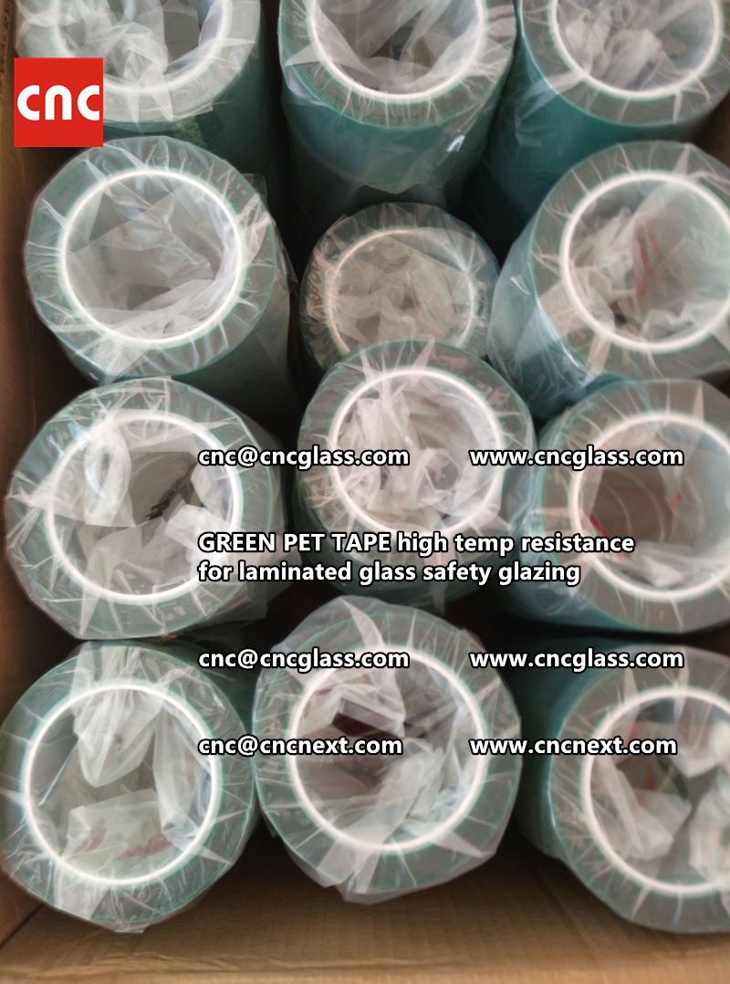 GREEN PET TAPE for laminated glass safety interlayers (5)