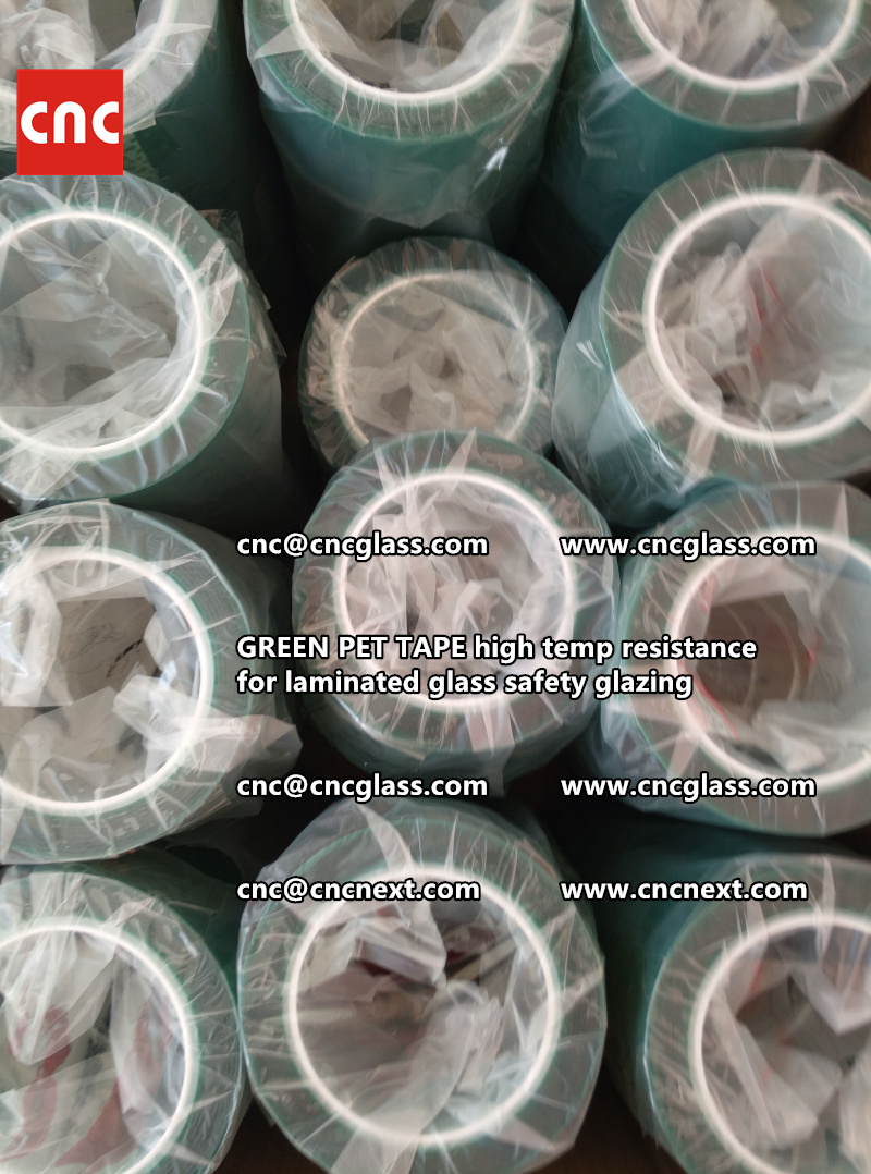 GREEN PET TAPE for laminated glass safety interlayers (6)