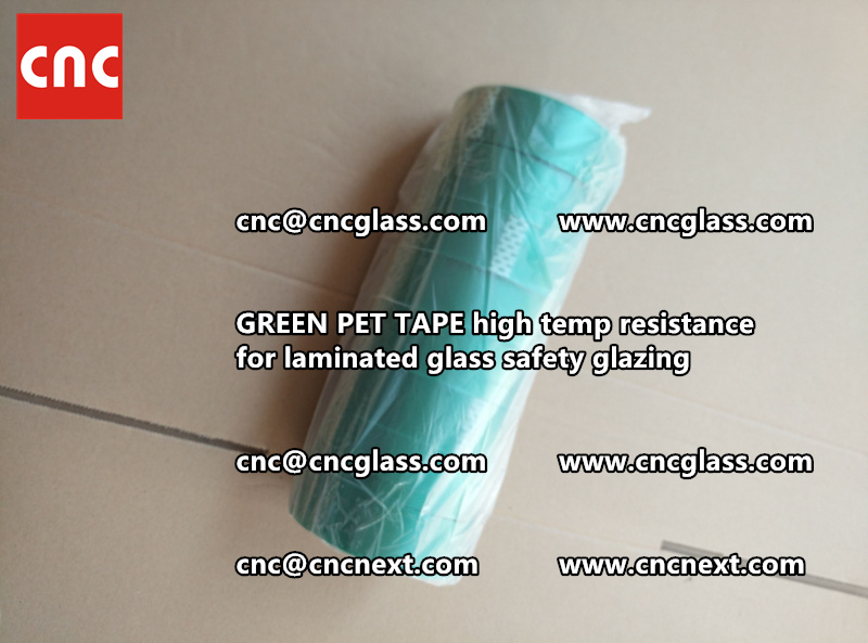 GREEN PET TAPE for laminated glass safety interlayers (7)